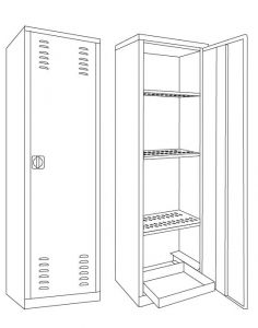 IN-Z.694.10 Cabinets for plasticized zinc pesticides 60x45x200 H