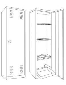 IN-Z.694.11 Armadio per Fitofarmaci zinco plastificato 100x45x200 H