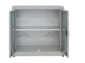 IN-Z.694.15 Low 2door plastic storage cabinet with laminated zinc 100x40x80 H