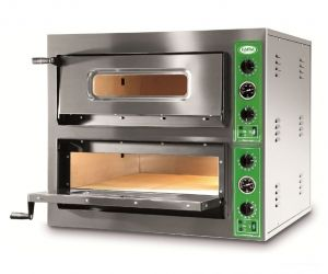 B8 + 8T - Pizza oven INOX 8 PIZZA 36 cm three-phase B8 + 8