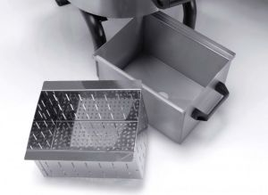 FPC309 - 18 kg mussel cleaner with high base, drawer and filter included - Three-phase