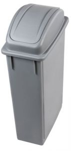 T102210 Wastebin with swing lid Grey Polypropylene 90 liters
