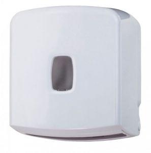 T104057 Interleaved or roll toilet paper dispenser 250 sheets White ABS