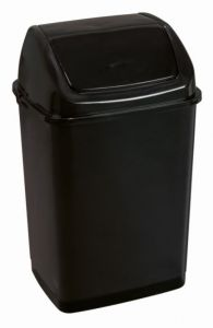 T909535 Swing paper bin Black polypropylene 35 liters (Pack of 12 pieces)
