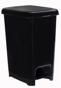 T909811 Black polypropylene pedal bin 10 liters