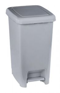T909925 Gray polypropylene pedal bin 25 liters (pack of 18 pieces)