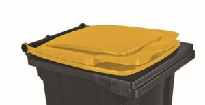 T910131 Yellow lid for external waste container 120 liters
