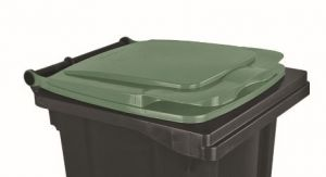T910133 Green lid for external waste container 120 liters