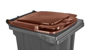 T910134 Brown lid for external waste container 120 liters