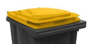 T910251 Yellow lid for waste container 240 liters