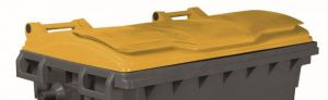 T910671 Yellow lid for external waste container 660-770 liters
