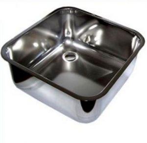 LV40/40/25 Vasca di lavaggio in acciaio inox dim. 400x400x250h a saldare