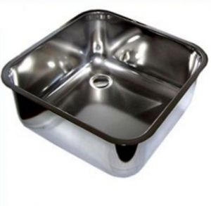 LV40/40/30 stainless steel cleaning sink-bowl to be welded dim. 400x400x300h