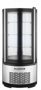 ARC100B Round ventilated refrigerated display case with led lighting - capacity 100 lt.