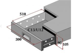 C13-FC Set of 3 drawers for refrigerated counters