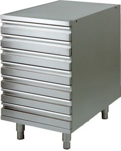 CAS7 Drawer unit with AISI 304 stainless steel frame for pizza dough containers