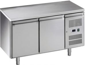 G-GN2100BT-FC Ventilated refrigerated table, in stainless steel AISI201,  -18 -22C °