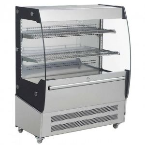 RTS200C Round ventilated refrigerated display case with led lighting - capacity 200 lt