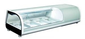 RTS42B Vetrina refrigerata statica da tavolo per sushi con illuminazione led temp