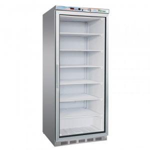 G- EF600GSS Static glass door freezer cabinet, capacity 570 lt