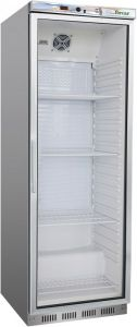 G- ER400GSS Refrigerated cabinet 1 glass door - Capacity 350 Lt - Stainless steel frame