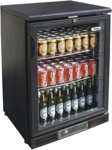 G-BC1PB Refrigerated display for drinks of 140 liters with temp. + 2 / + 8 ° C