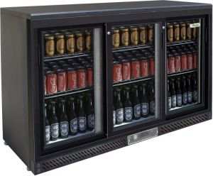 G-BC3PS Horizontal refrigerated display case - 3 sliding doors
