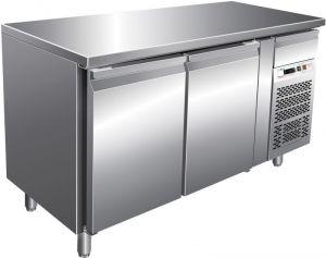 G-GN2100BT- Tavolo refrigerato ventilato GN1/1 telaio Inox due porte banco gastronomia