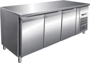 G-GN3100BT  - Tavolo banco freezer ventilato 3 porte telaio inox AISI304
