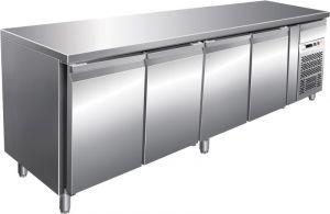 G-GN4100BT- Tavolo banco refrigerato ventilato telaio Inox AISI304 4 porte
