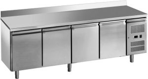 G-GN4200BT-FC 4-door ventilated freezer table in stainless steel AISI201