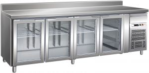 G-GN4200TNG - Stainless Steel Vented Refrigerated Table 4 doors Temp. + 2 / + 8 ° C