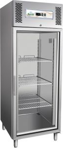 G-GN650BTG Refrigerated showcase, single door. Ventilated refrigeration.