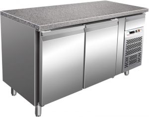 G-PA1500TNGR7 Refrigerated Table for Pastry with Granite Top + 2 ° + 8 ° C