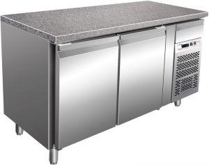 G-PA1500TNGR7 Tavolo Refrigerato per Pasticceria  con Piano in Granito +2° +8° C