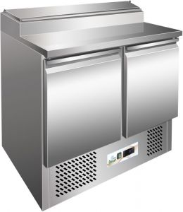 G-PS200 - Static refrigeration saladette stainless steel frame AISI304