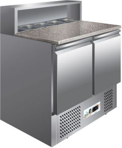 G-PS900 Static refrigeration saladette,  granite worktop