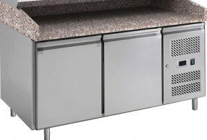 G-PZ2600TN-FC Tavolo refrigerato con funzione di banco pizza in acciaio inox AISI201