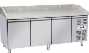 G-PZ3600TN - Refrigerated pizza counter with three doors in stainless steel