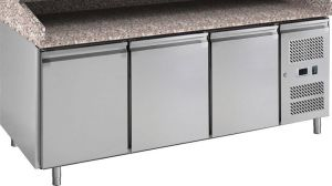 G-PZ3600TN-FC Refrigerated table frame in stainless steel AISI201