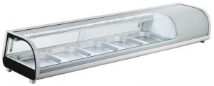 G-RI12033V - Stainless steel static refrigerated ingredient display case for gastronorm