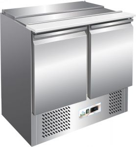 G-S900 -  Saladette with static refrigeration for salads in stainless steel AISI304