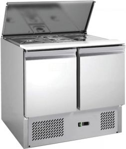G-S900-FC Stainless steel AISI201 saladette with static refrigeration, 2 ports