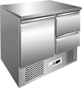 G-S901-2D - Chilled saladette, temp. -12 ° -18 ° C, stainless steel frame AISI304