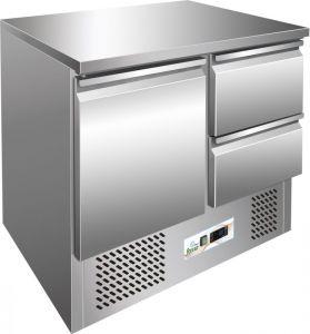 G-S901-2D - Saladette refrigerata, temp. -12°-18°C,  telaio inox AISI304