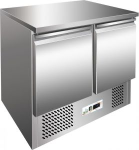 G-SS45BT- Chilled saladette, temp. -12 ° -18 ° C, stainless steel frame AISI304
