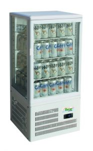 G-TCBD68 Countertop refrigerated display cabinet with 4 glass sides - Capacity 58 Lt
