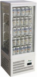 G-TCBD98 Vetrina espositore refrigerato da banco con 4 lati a vetro - Capacità 98 Lt