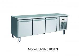 G-UGN3100TN - Banco tavolo refrigerato ventilato per gastronomia, alto 65 cm
