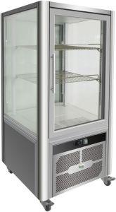 G-VGP200R Espositore refrigerato vetrina 4 lati a vetro luce led - Capacità 200 Lt